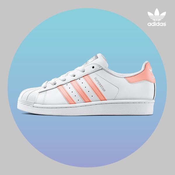 superstars white/pink